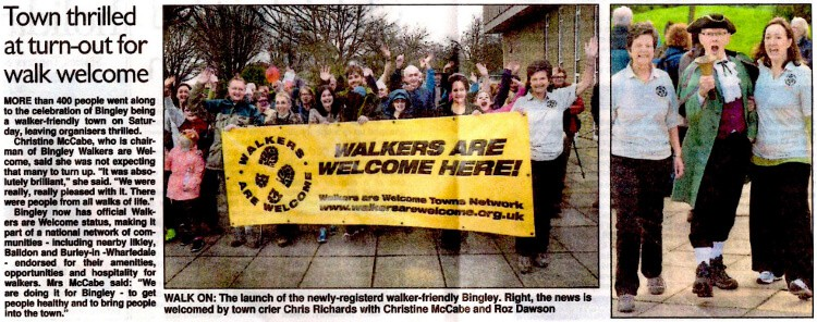 Telegraph & Argus - Town thrilled at turn-out for walk welcome