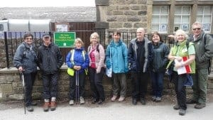 A group of walkers near Friends of St Ives Visitor Centre