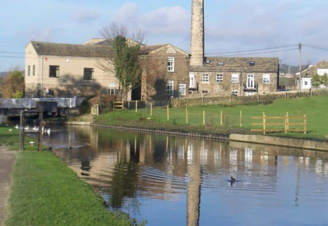View of Micklethwaite Bridge on Leeds and Liverpool Canal