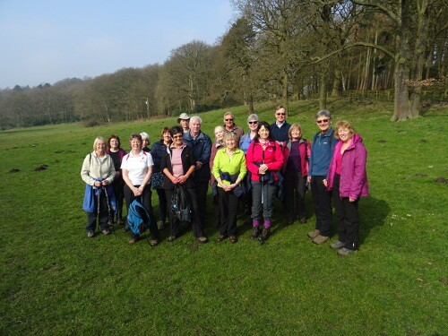 Group of people on a regular guided walk in Bingley