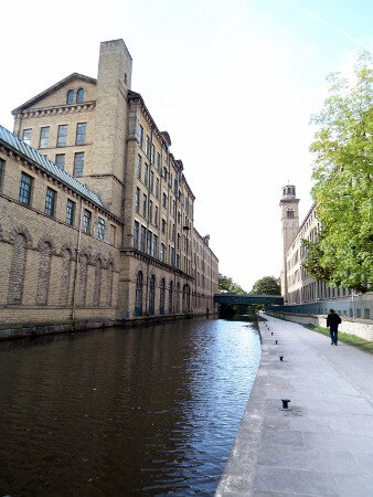 Mills in Saltaire on the Leeds and Liverpool canal