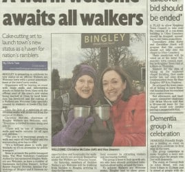 Telegraph & Argus - 2015-04-09 - A warm welcome awaits all walkers