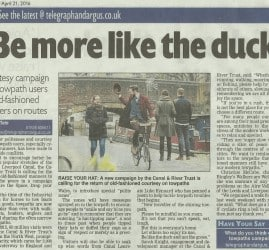 Telegraph & Argus - 2016-04-21 - Be more like the duck