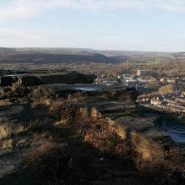 Landscape View of Bingley from Gilstead Craggs