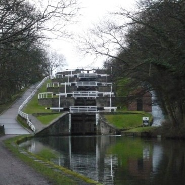 Five Rise Locks in Bingley by Regine Geldhof