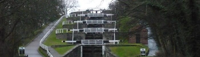 Five Rise Locks in Bingley by Regine Geldhof