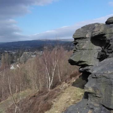 Gilstead Crag rock face