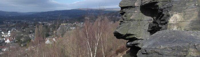 Gilstead Craggs cliff