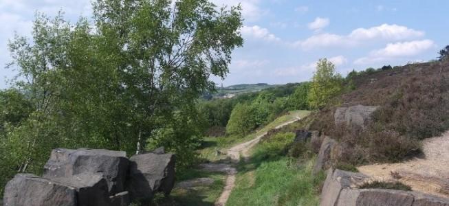 A path on top of Gilstead Craggs near Bingley