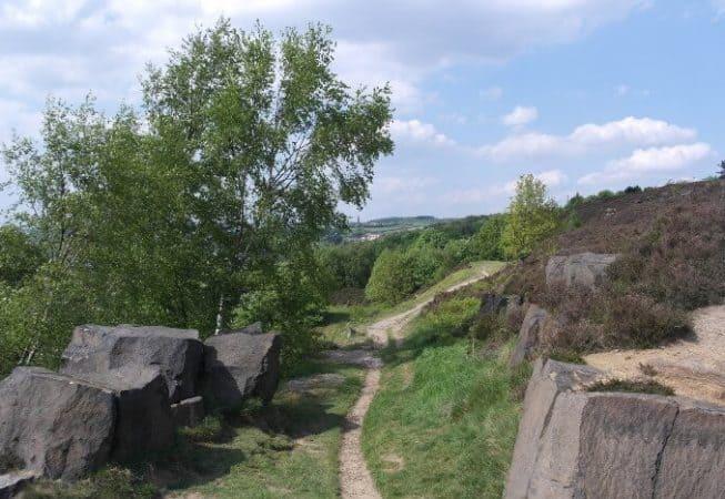 A path on top of Gilstead Crag near Bingley