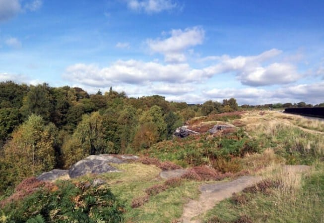 View of the end of Shipley Glen at the bottom of Baildon Moor