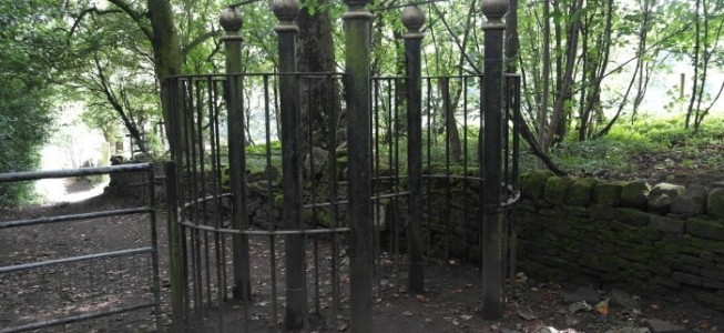 Victorian Iron Kissing Gate on Shipley Glen