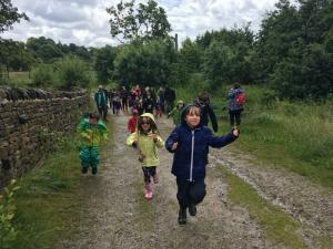 Family Bloggers Walk in Bingley