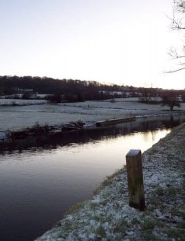 Crossflatts - Leeds and liverpool Canal on a Wintery Morning