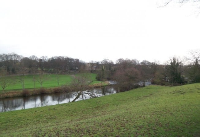 View of Myrtle Park from the house above River Aire