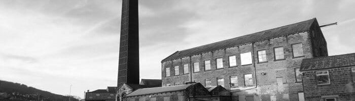 Gasoline Alley Mill on Leeds & Liverpool Canal in Bingley