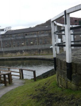 Bingley Three Rise Locks and Old Train Station Warehouse