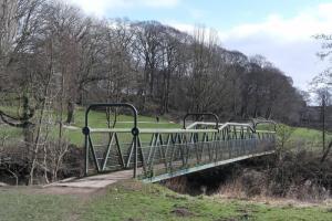 Tubular bridge on River Aire