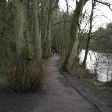 Riverside Footpath in Bingley along River Aire