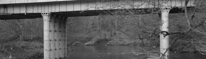 Steel Bridge above River Aire