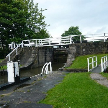 Three Rise Locks in Bingley