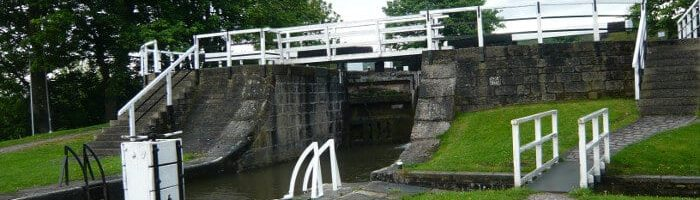 Three Rise Locks in Bingley