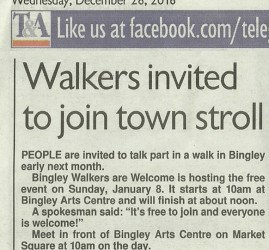 Telegraph & Argus - 2016-12-28 - Walkers invited to join town stroll