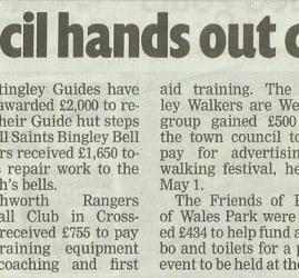 Telegraph & Argus - 2017-03-07 - Town council hands out cash help