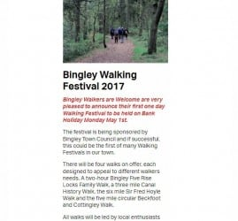 The Bingley Review - 2017-04-24 - Picks of the month Bingley walking festival 2017