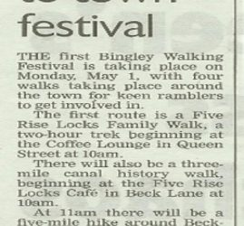 Telegraph & Argus - 2017-04-22 - Walkers invited to town festival