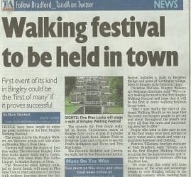 Telegraph & Argus - 2017-04-27 - Walking Festival to Be Held in Town