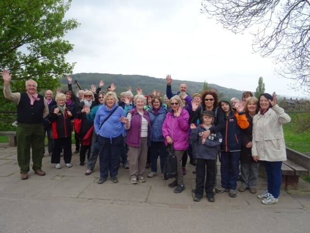 Group of people attending Canal History Walk
