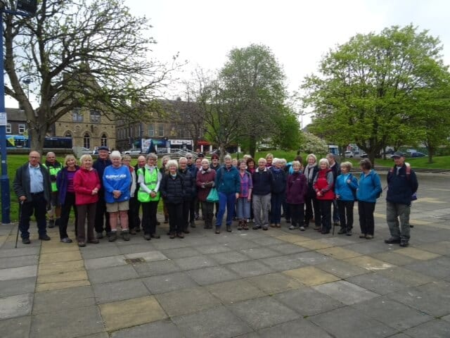 Group of people attending Beckfoot & Cottingley Walk