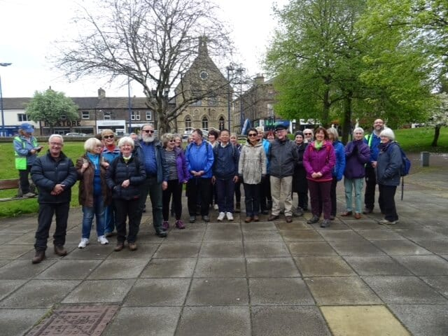 Group of people attending Sir Fred Hoyle Walk