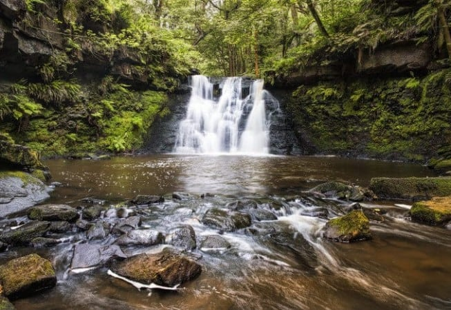 View of Goit Stock Waterfall near Harden - Photo by GHZ Photography