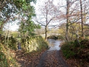 Beck Lane in Bingley leading to pack horse bridge