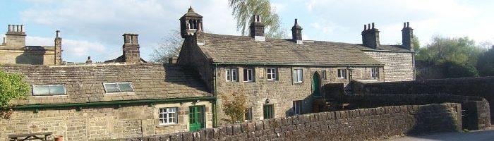 Buildings behind Bingley St Ives' Mansion