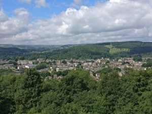Views of Bingley and Aire Valley from Gilstead Crag