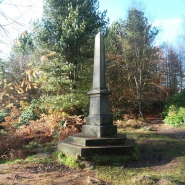 The Ferrand Obelisk in St Ives Estate, Bingley
