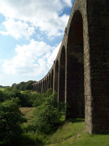 View of the Hewenden Viaduct Arches, one of the tallest structure of its kind in the UK.