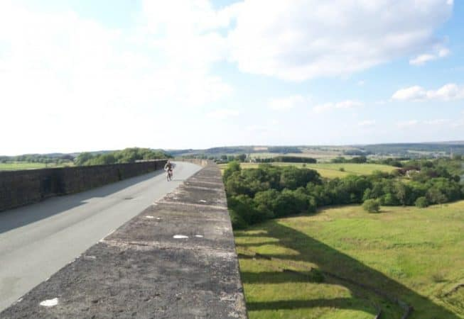 The Great Northern Railway Trail, a cycling and walking path at the top of Hewenden Viaduct