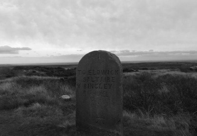 To Eldwick, Saltaire & Bingley - Stone signpost on Bingley Moor