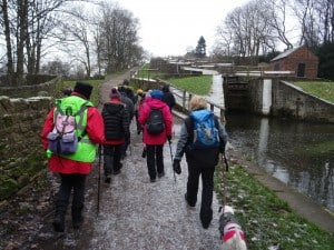 Walkers Near Bingley Five Rise Locks