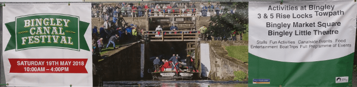 Bingley Canal Festival Banner