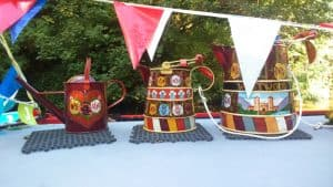 Canal Boat Decorated Pots