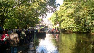 Kennet Approaching Five Rise Locks at Bingley