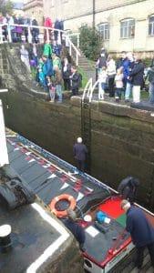 Kennet at Three Rise Locks in Bingley