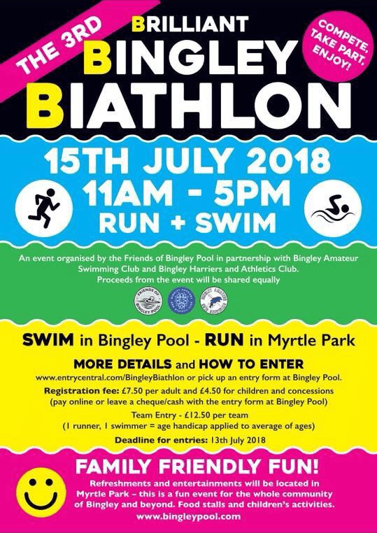 Bingley Biathlon 2018 - Leaflet