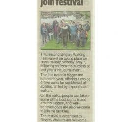 Telegraph & Argus - 2018-04-30 - Walkers are welcome to join festival