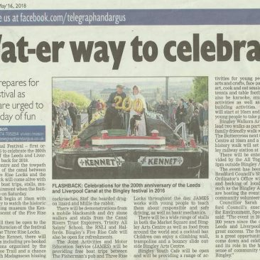 Telegraph & Argus - 2018-05-16 - Wat-er way to celebrate